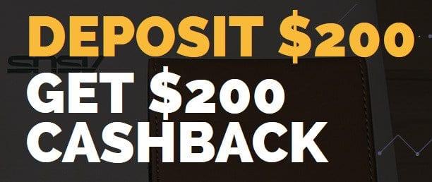 $200 Cashback On $200 Deposit