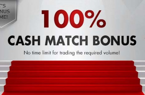100% Cash Match Binary Deposit Bonus – OptionTrade