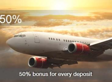 Bonus 50% For every deposit – Vomma