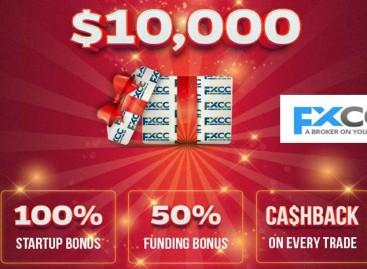 100% Forex Festival Bonus  – FXCC