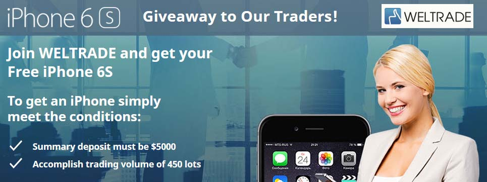 Free iPhone 6S by WelTrade Forex Broker