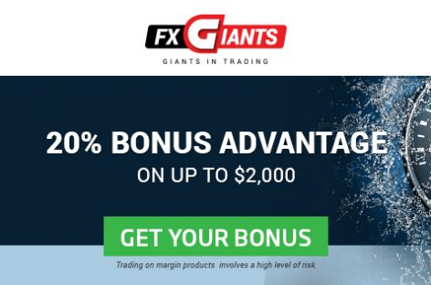 20% Bonus, up to $2,000 All Deposits – FXGiants
