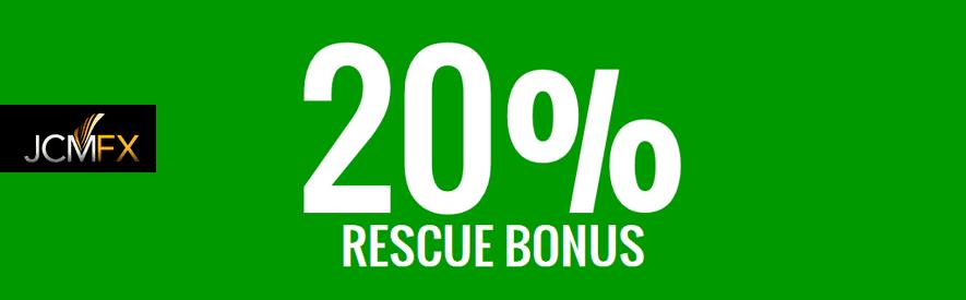 JCMFX 20% rescue deposit bonus