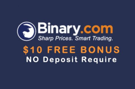 $10 Options NO DEPOSIT BONUS – Binary.com