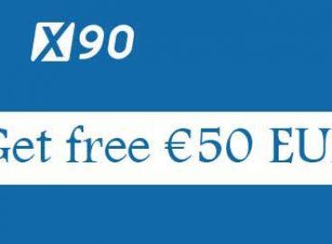 Get free €50 EUR phone verify bonus – x90