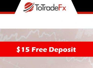 $15 no-deposit-Forex welcome bonus – TotradeFX
