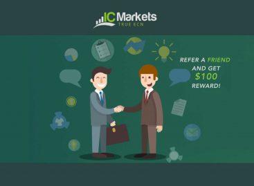 Refer a Friend & get $100 Reward – IC Markets