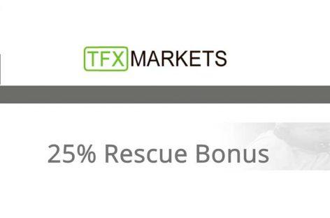 25% Rescue Equity Bonus – TFXMarkets