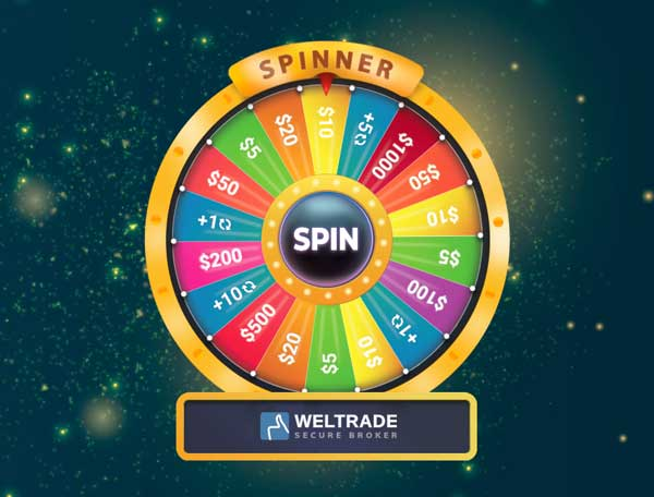 3333% Spinner Tradable Bonus – WelTrade